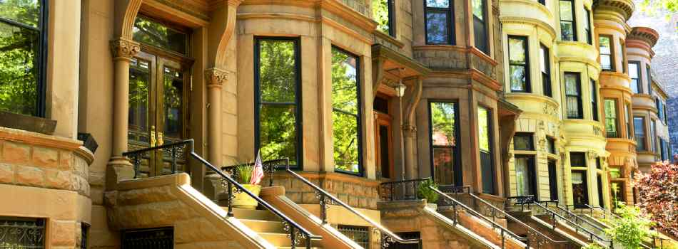 Brownstone Property In The Summer